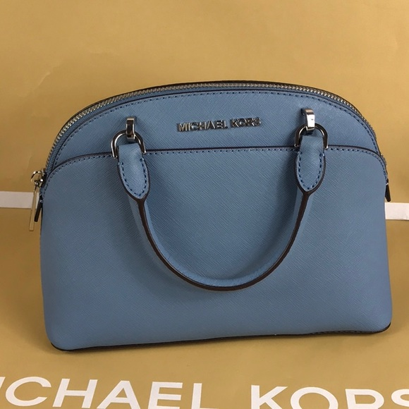 cd7ef93f8c2f Michael Kors Bags | Emmy Small Dome Sky Leather Satchel | Poshmark